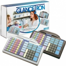 Glancetron Keyboard 8031, Num., MKL, RS232, PS/2, Kit, schwarz