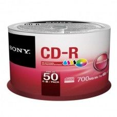 CD-R 80 Sony 48x Inkjet white 50er Cakebox
