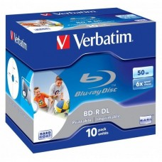 BD-R 50GB Verbatim 6x Inkjet white Full Surface 10er Jewel Case