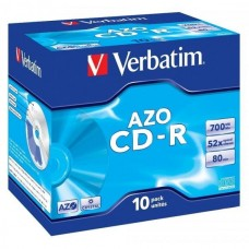 CD-R 80 Verbatim 52x DLP AZO 10er Jewel Case