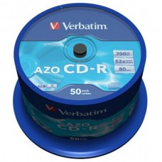 CD-R 80 Verbatim 52x DLP AZO 50er Cakebox