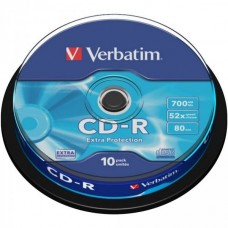 CD-R 80 Verbatim 52x DL 10er Cakebox