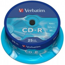 CD-R 80 Verbatim 52x DL 25er Cakebox