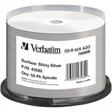 CD-R 80 Verbatim 52x Thermo silver Full Surface 50er Cakebox