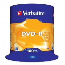 DVD+R 4.7GB Verbatim 16x 100er Cakebox