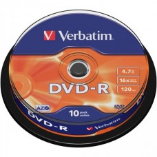 DVD+R 4.7GB Verbatim 16x 10er Cakebox