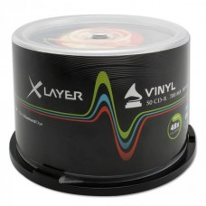 CD-R 80 XLayer 48x Black Vinyl 50er Cakebox