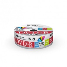 DVD+R 4.7GB XLayer 16x Inkjet white Full Surface 25er Cakebox