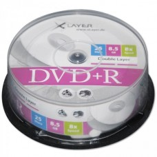 DVD+R 8.5GB XLayer 8x 25 CB